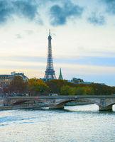 Eiffel Tower river Paris France