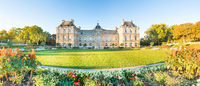 Panorama of Luxembourg Palace in Paris