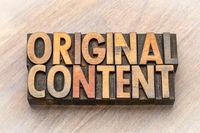 original content word asbtract in wood type