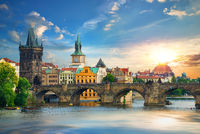 Prague at summer day