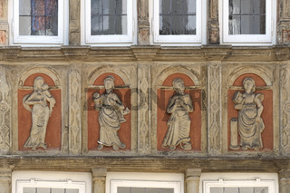 Minden - Relief an der Museumsfassade , Deutschland