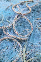 Plastic fishing nets
