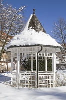 Pavillion im Winter