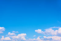 Blue sky and white heap clouds
