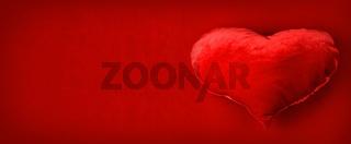 Red pillow heart