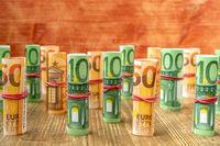 Cash money, Euro bills