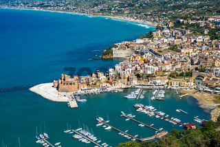 Panoramic view of Castellammare del Golfo, Sicily, Italy