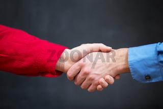 handshake two hands for men and women