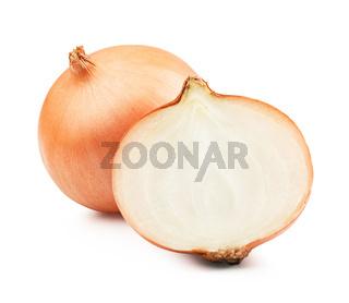 Onion sliced bulbs