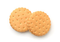Top view of two sandwich crackers