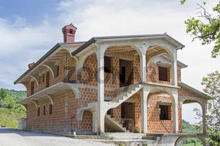 Rohbau eines Hauses in Istrien