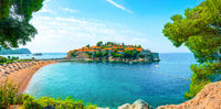 Beach at Sveti Stefan