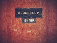 Retro Counselor Office Door