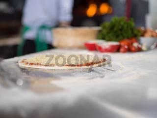raw pizza margarita