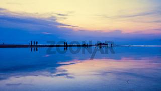 Sunset over the sea at Ko Samui