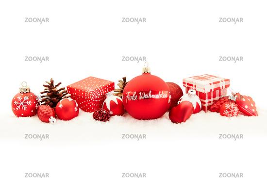 Frohe Weihnachten Grüße.Photo Frohe Weihnachten Grüße Als Karte Mit Dekoration Image 12614461