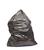 Black trash bag