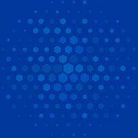 Hexagonal regular background in blue tones. Multiple hexagons.
