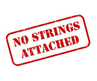No Strings Attached Rubber Stamp Vector