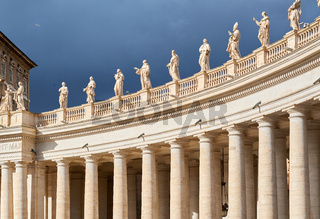Saint Peter's Square details in Vatican
