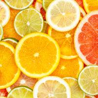 Citrus fruits collection food background oranges square lemons limes grapefruit fresh fruit