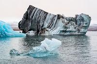 Icebergs in the Jokulsarlon's lake, Iceland