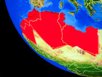 Maghreb region on Earth from space