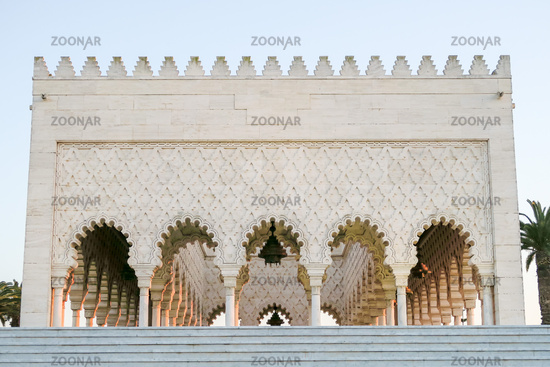 detail of the mosque in morocco, photo as background