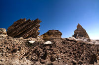 Plateau Ustyurt from the edge of Aral sea Karakalpakstan, Uzbekistan