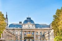 View of Palais de Justice building in Paris