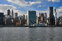 New York skyline with United Nations headquarter