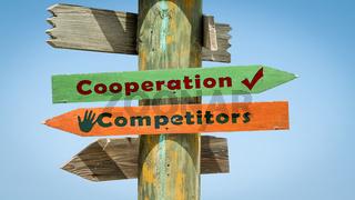 Street Sign Cooperation versus Competitors