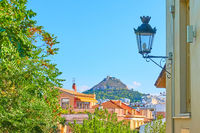 View of Athens city from Plaka district