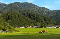 Hamlet Winkl near St. Gilgen, Salzkammergut region, Austria