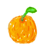 Isolated Orange Cartoon Drawing