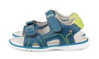 Pair of blue kids sandals