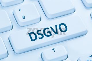 DSGVO Datenschutz Grundverordnung Verordnung Regel EU Europäische Union Internet blau Computer Tastatur