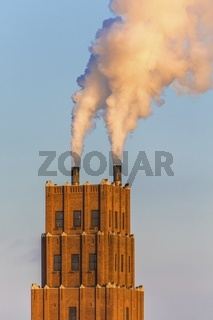 Two Chimneys at Paper Mill