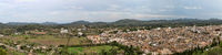 Panorama Top view of the small town