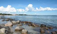 Beach of Binz on Ruegen,baltic Sea,Mecklenburg western Pomerania,Germany