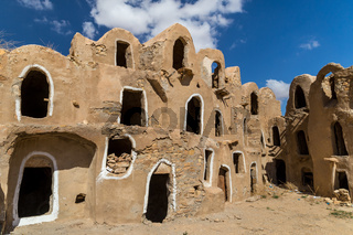 Granaries (grain stores) of a berber fortified village, known as  ksar.  Ksar Jlidet, Tunisia