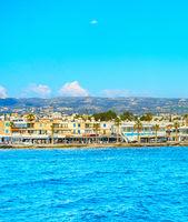 Skyline Paphos sea waterfront Cyprus
