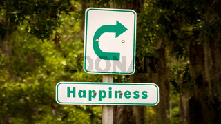Street Sign to Happiness