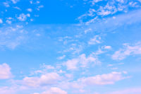 Beautyful blue sky with white clouds
