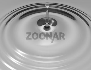 3d rendering of a water drop isolated in studio background.