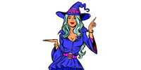 Beautiful witch. Announce Halloween Party