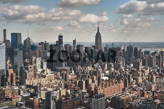 Luftaufnahme der Stadt New York und dem Empire State Building