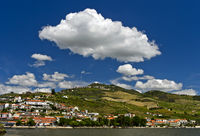 Pinhao at the Douro River, Pinhao, Douro Valley, Portugal