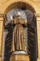 figure of a saint, Igreja do Colegio, Jesuit church, Funchal, Madeira, Portugal, Europe
