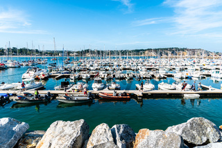 The port of Morgat a sunny day of summer